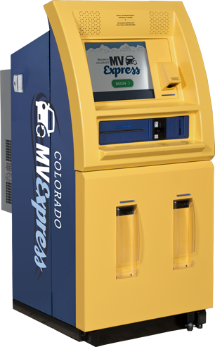 Renew registrations at a Colorado MV Express kiosk