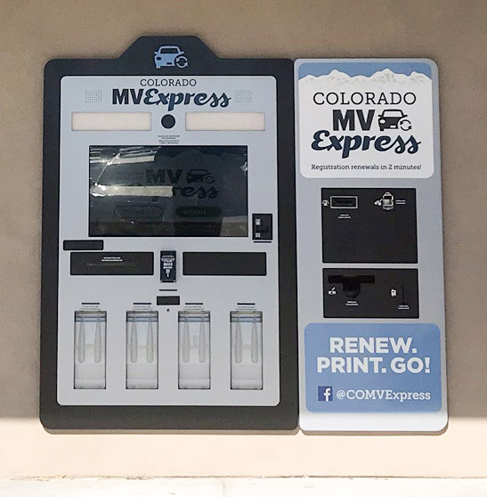 24-hour Colorado MV Express kiosk